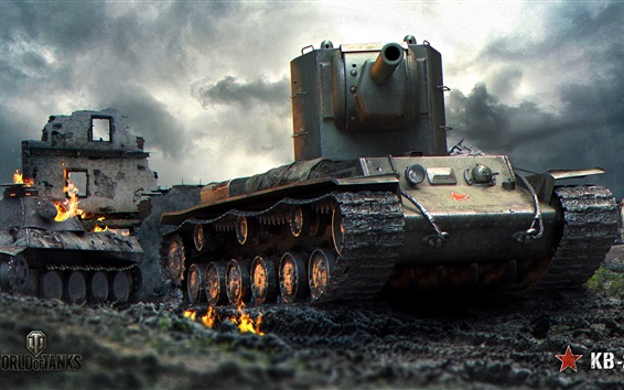 배경 화면 월드 오브 탱크, 소련, 폐허
