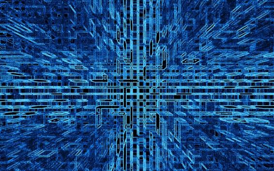 Papéis de Parede Estrutura abstracta, azul