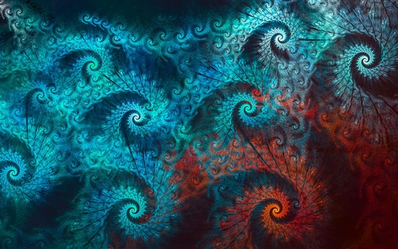 Wallpaper Abstraction peacock feathers