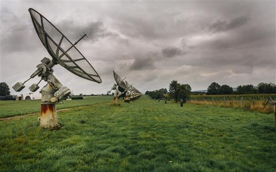 Papéis de Parede Antena, campos, grama, nuvens