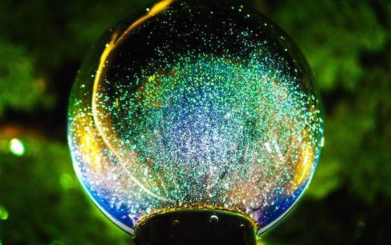 배경 화면 아름다운 유리 공, 반짝임