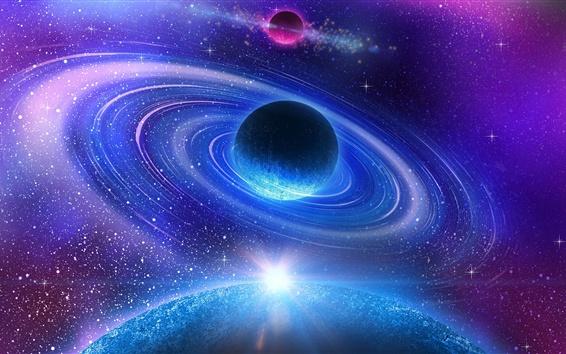 Wallpaper Beautiful universe, blue planet