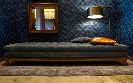 Wallpaper Bedroom, bed, light, decoration