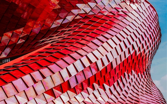 Wallpaper Building structure, red scales