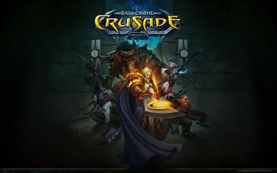 Fondos de pantalla Call of the Crusade, WOW, cuadro de arte