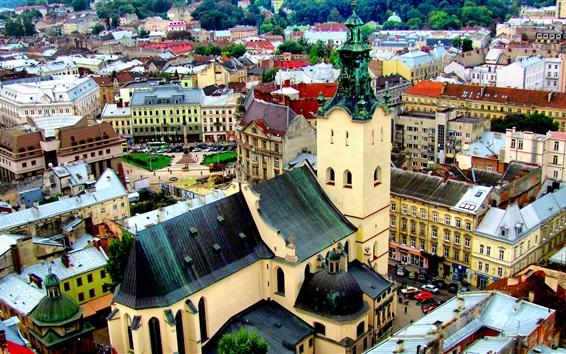 Wallpaper Cathedral, city, Ukraine
