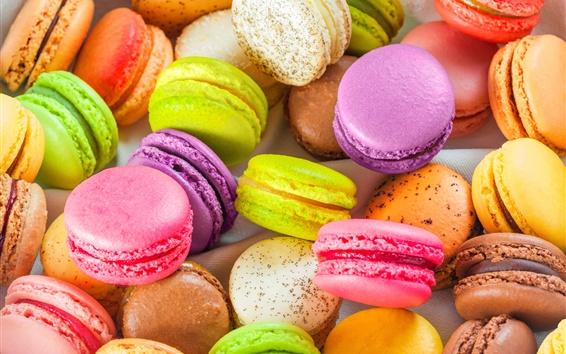 Wallpaper Colorful almond macarons, sweet food