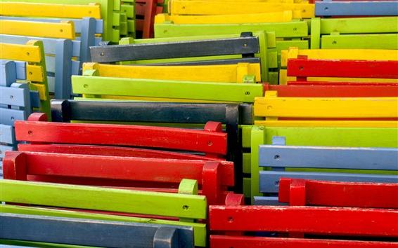 Обои Цветные стулья, краска