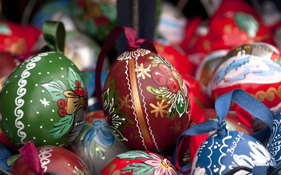Wallpaper Colorful painted eggs, Easter