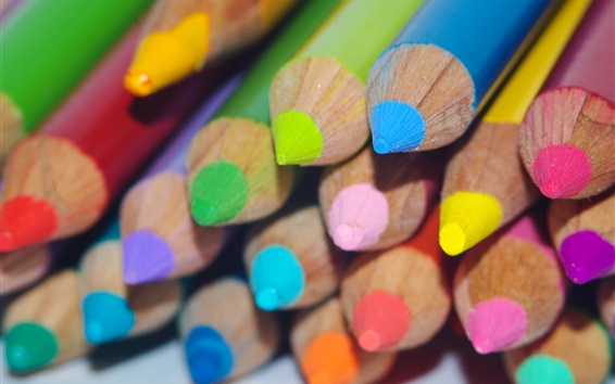 Wallpaper Colorful pencils, drawing tools