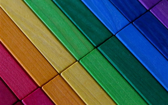 Wallpaper Colorful wood background, texture