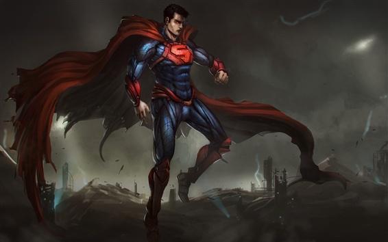 Fondos de pantalla DC Comics, superman, cuadro de arte