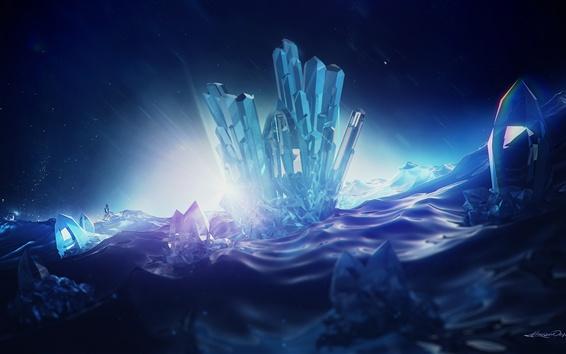 Обои Цифровой рендеринг, кристаллы