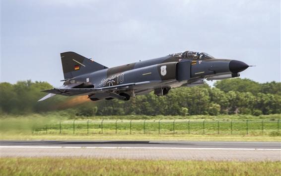 Wallpaper F-4F Phantom II multipurpose fighter flight