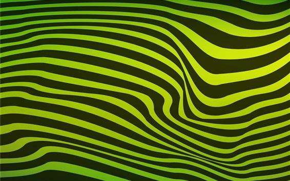 Обои Зеленые и черные волнистые полосы
