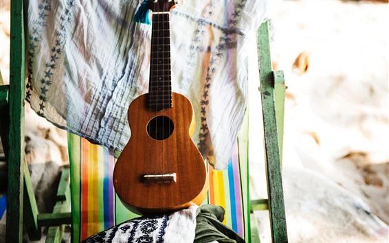 Wallpaper Guitar, cloth, window