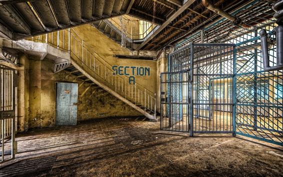 Wallpaper Interior, prison, fence