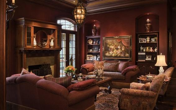 Wallpaper Living room, sofa, furniture, comfort