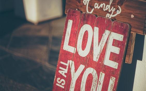 Обои Любовь тебя, надпись, доска