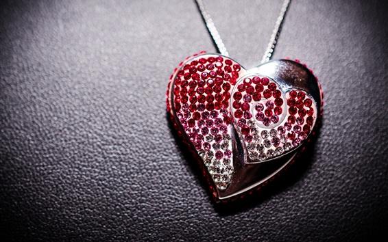 Wallpaper Love heart pendant, jewelry, decoration