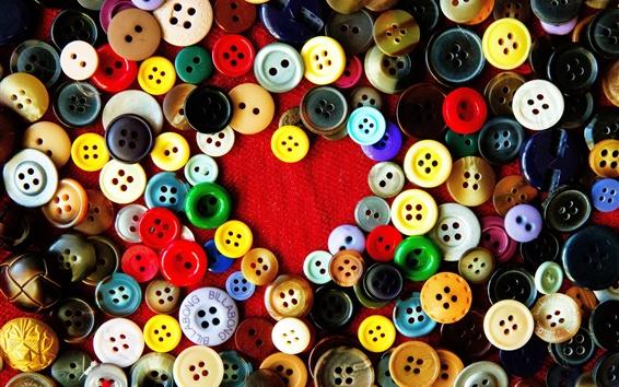 Wallpaper Many buttons, love heart