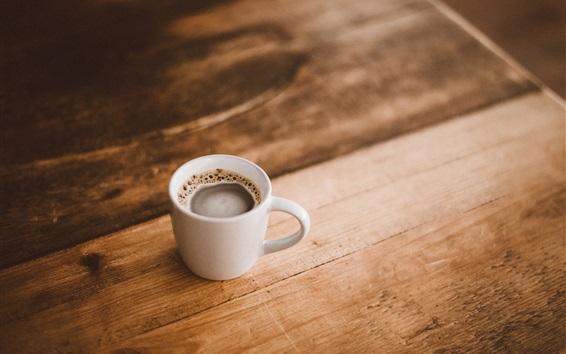 Wallpaper One cup coffee, foam, drinks