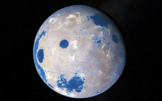 壁紙 私たちの地球、白と青の色