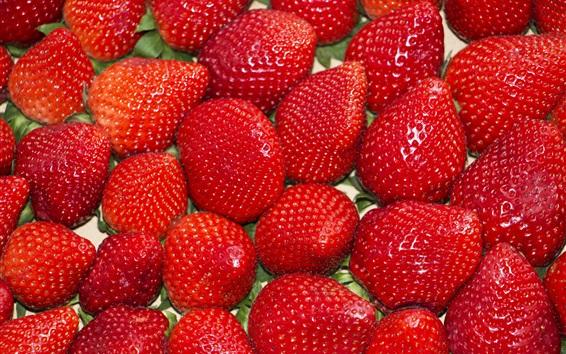 Wallpaper Ripe strawberries, berries, fruit