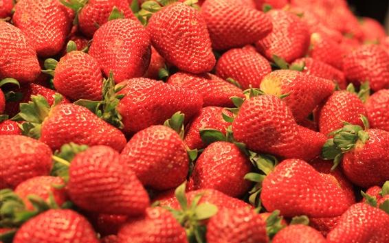 Papéis de Parede Morangos maduros, frutas, deliciosos