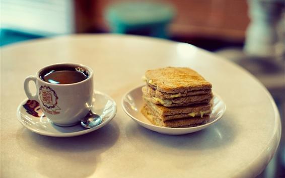 Fond d'écran Sandwich, gâteau, biscuits, café