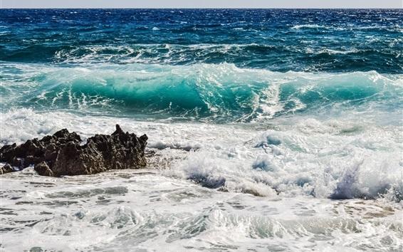 Wallpaper Sea, waves, foam