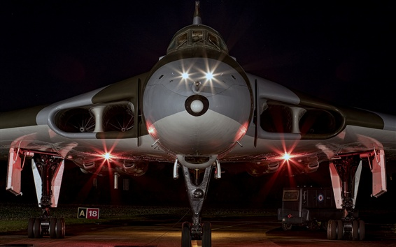 Wallpaper Strategic bomber front view, night