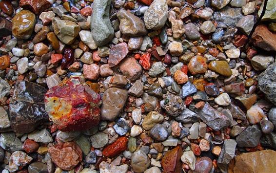Wallpaper Wet stones, colors, background
