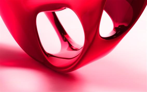 壁紙 3D赤色の形