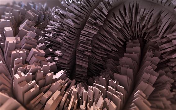 Papéis de Parede 3D renderiza, muitas caixas