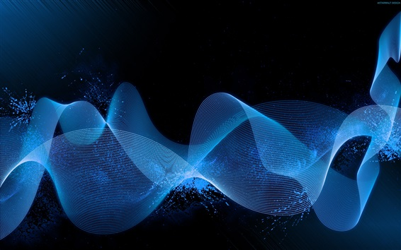 Wallpaper Abstract blue waves