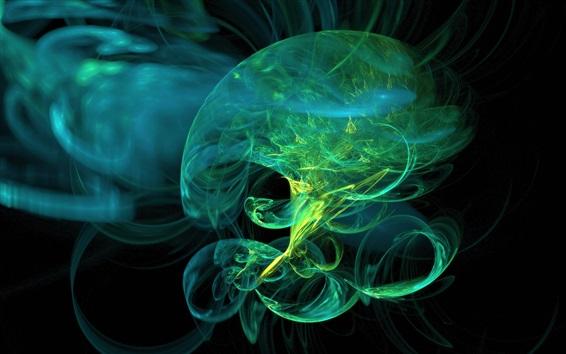 Wallpaper Abstract green jellyfish