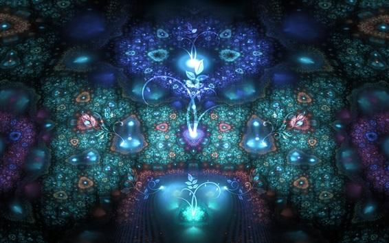 Fond d'écran Nature abstraite, plantes, fleurs, lumière