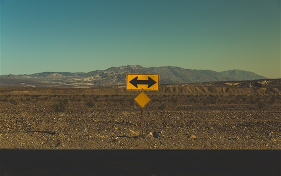 Wallpaper Arrow, point, road sign