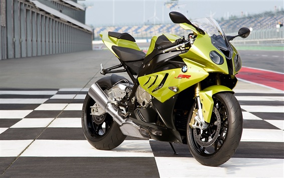 Wallpaper BMW S1000RR green motorcycle