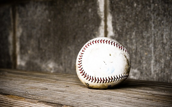 Wallpaper Baseball, wood board
