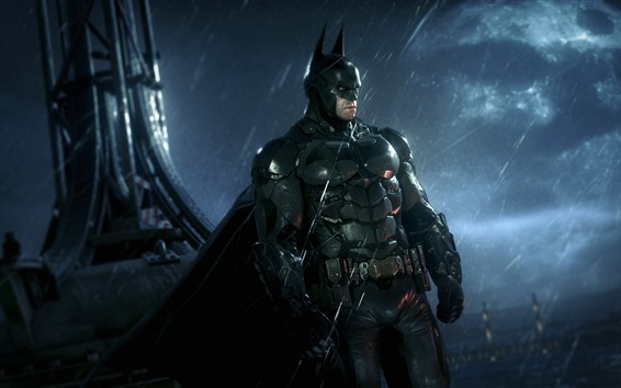 Wallpaper Batman: Arkham Knight, PS4 games, rainy night