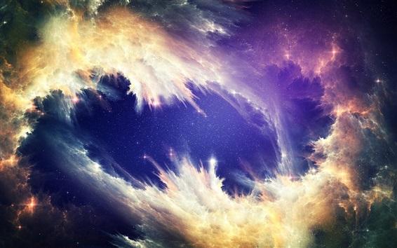 Wallpaper Beautiful nebula, space