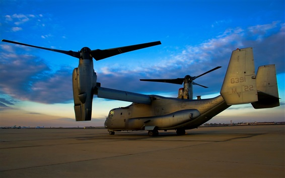 Wallpaper Bell Boeing V-22 Osprey military aircraft