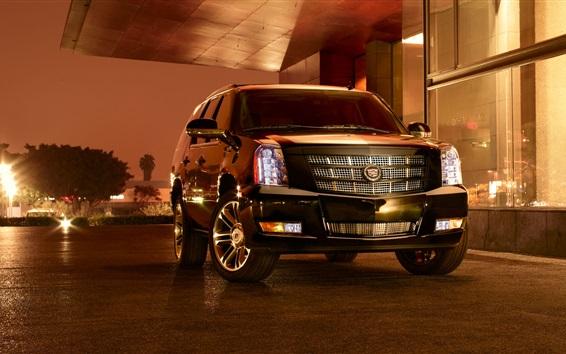 Fond d'écran Cadillac SUV voiture la nuit