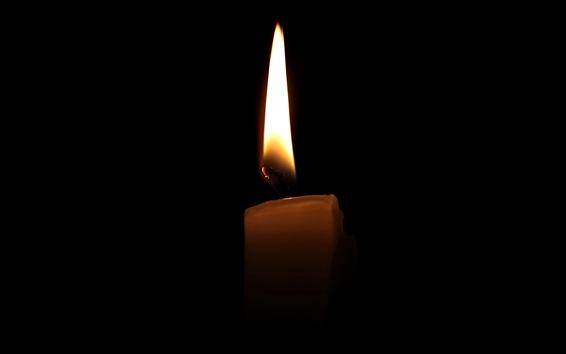 Обои Свеча, огонь, пламя, темные