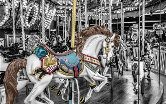 Wallpaper Carousel horse
