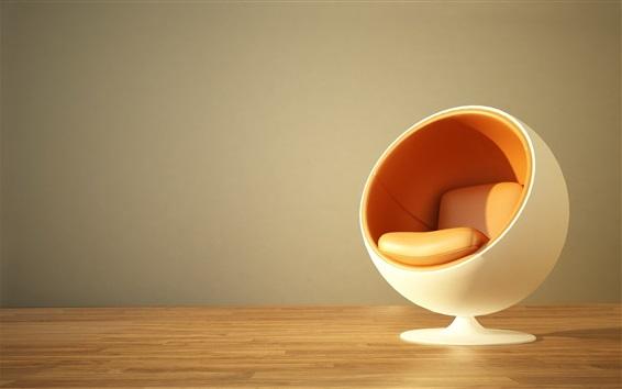 Wallpaper Chair, design, like a ball