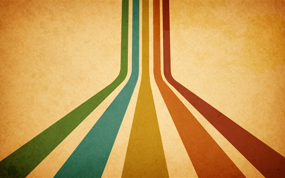 Wallpaper Colorful lines, orange background