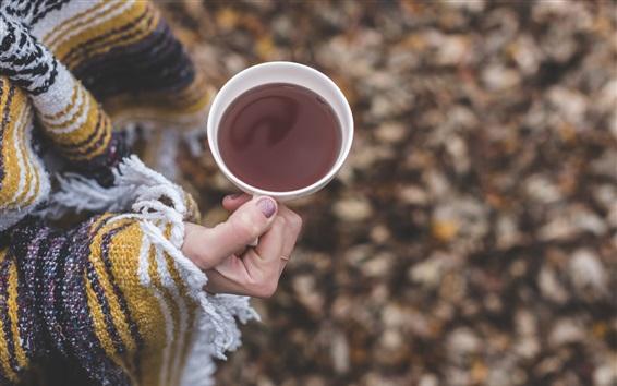 Wallpaper Cup, tea, hand